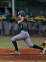 Venice Indians Cole Schumaker (11) bats during a game against the Braden River Pirates on February 25, 2021 at Braden River High School in Bradenton, Florida.  (Mike Janes/Four Seam Images)