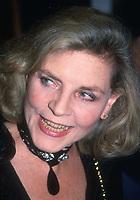 Lauren Bacall 1983<br /> Photo By Adam Scull/PHOTOlink.net