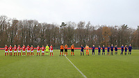 Players at the line up before a female soccer game between Standard Femina de Liege and RSC Anderlecht on the 9th matchday of the 2020 - 2021 season of Belgian Scooore Womens Super League , saturday 12 th of December 2020  in Angleur , Belgium . PHOTO SPORTPIX.BE   SPP   SEVIL OKTEM