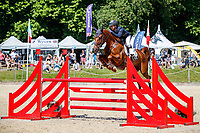AUS-Sammi Birch rides Finduss PFB during the Showjumping for the CCI-L 4*. 2021 GBR-Bicton International Horse Trials. Devon. Great Britain. Sunday 13 June. Copyright Photo: Libby Law Photography