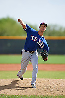 Texas Rangers pitcher Luke Lanphere (52) during an instructional league game against the Seattle Mariners on October 5, 2015 at the Surprise Stadium Training Complex in Surprise, Arizona.  (Mike Janes/Four Seam Images)