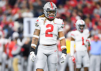 Indianapolis, IN - DEC 7, 2019: Ohio State Buckeyes defensive end Chase Young (2) during Big Ten Championship game between Wisconsin and Ohio State at Lucas Oil Stadium in Indianapolis, IN. Ohio State came back from a 21-7 deficit at halftime to beat Wisconsin 34-21 to win its third straight Big Ten Championship. (Photo by Phillip Peters/Media Images International)