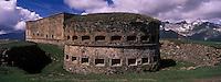 Europe/France/Provence-Alpes-Côtes d'Azur/06/Alpes-Maritimes/Alpes-Maritimes/Arrière Pays Niçois/Env de Tende: Le Fort Central au Col de Tende, Fortifictions construites par les Italiens aprés 1882