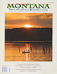 Nelson Kenter photo of fishing at sunset on the Missouri River used on a magazine cover