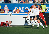 Heather Mitts. The US Women's National Team defeated the Canadian Women's National Team, 4-0, at BMO Field in Toronto during an international friendly soccer match on May 25, 2009.