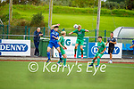 Ronan Teahan of Kerry heads the ball out of danger against Limerick in the EA Sports U17 League of Ireland soccer game