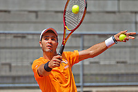 Austria, Kitzbuhel, Juli 15, 2015, Tennis, Davis Cup, Pracise Dutch team, Jean-Julien Rojer<br /> Photo: Tennisimages/Henk Koster