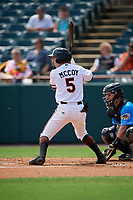 Bowie Baysox Mason McCoy (5) during an Eastern League game against the Akron RubberDucks on May 30, 2019 at Prince George's Stadium in Bowie, Maryland.  Akron defeated Bowie 9-5.  (Mike Janes/Four Seam Images)