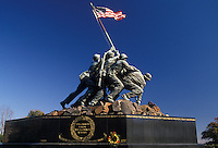 AJ2259, Iwo Jima statue, Arlington, Virginia, Marine Corps War Memorial at Arlington National Cemetery. Raising of the U.S. flag on Iwo Jima during World War II.