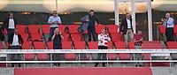 13th June 2020, Allianz Erena, Munich, Germany; Bundesliga football, Bayern Munich versus Borussia Moenchengladbach;  Bayern management team shows Oliver Kahn, Uli Hoeness and  Karl-Heinz Rummenigge