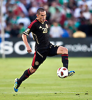 PASADENA, CA – June 25, 2011: Mexico player Jorge Torres Nilo (20) during the Gold Cup Final match between USA and Mexico at the Rose Bowl in Pasadena, California. Final score USA 2 and Mexico 4.