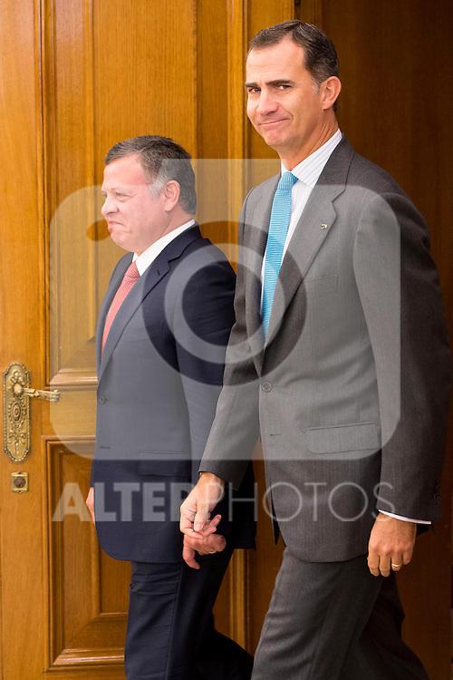 King Felipe VI of Spain at the meeting with the King Abdala II of Jordan at Zarzuela Palace in Madrid, November 20, 2015<br /> (ALTERPHOTOS/BorjaB.Hojas)