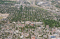 Aerial of Pueblo, Colorado featuring Parkview Hospital.  Looking North.