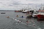 Green Buoy 1KM Swim in Clogherhead....(Photo credit should read Jenny Matthews/NEWSFILE)...
