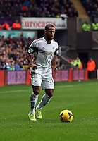 Wednesday, 01 January 2014<br /> Pictured: Wayne Routledge.<br /> Re: Barclay's Premier League, Swansea City FC v Manchester City at the Liberty Stadium, south Wales.