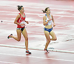 Wales' Elinor Kirk, left, competes in the women's 5,000m final<br /> <br /> Photographer Chris Vaughan/CameraSport<br /> <br /> 20th Commonwealth Games - Day 10 - Saturday 2nd August 2014 - Athletics - Hampden Park - Glasgow - UK