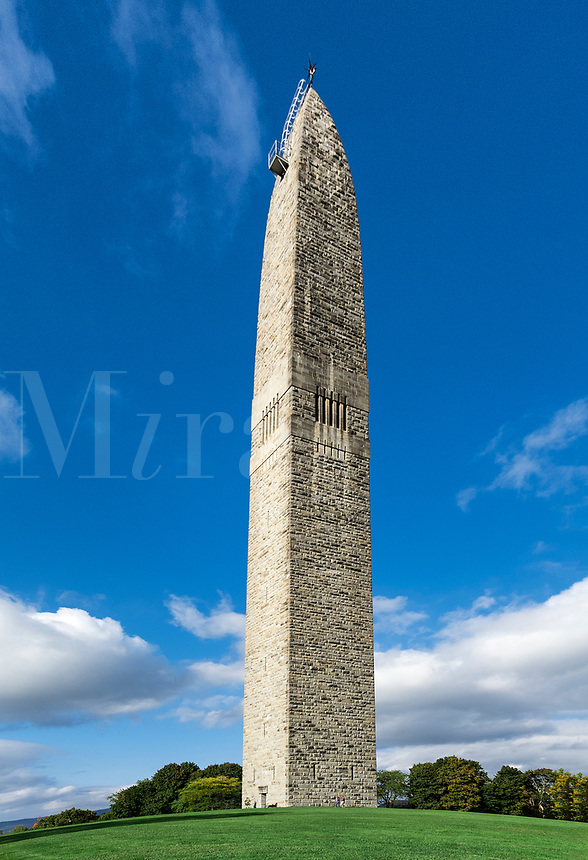 The Bennington Battle Monument, is the tallest structure in Vermont.