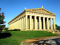 Early morning at the Parthenon in Centennial Park, Nashville, TN.