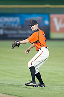 AZL Giants second baseman Kyle McPherson (7) on defense against the AZL Cubs on September 5, 2017 at Scottsdale Stadium in Scottsdale, Arizona. AZL Cubs defeated the AZL Giants 10-4 to take a 1-0 lead in the Arizona League Championship Series. (Zachary Lucy/Four Seam Images)
