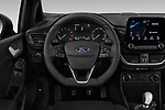 Car pictures of steering wheel view of a 2019 Ford Fiesta ST-Line 5 Door Hatchback