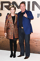 "Linda Hamilton and Arnold Schwarzenegger<br /> at the ""Terminator: Dark Fate"" photocall, London.<br /> <br /> ©Ash Knotek  D3529 17/10/2019"