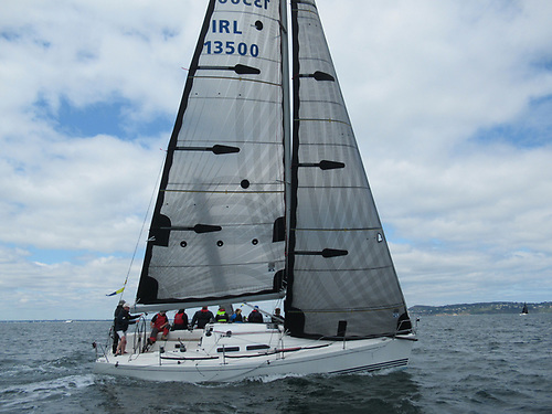An X35 D-Tox with there XD carbon sails with a Harken carbo foil