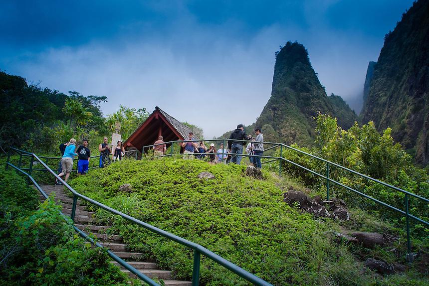 Iao Needle, 'Iao Valley State Monument, Maui, Hawaii, US