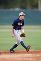 Justin Riemer (25) during the WWBA World Championship at the Roger Dean Complex on October 11, 2019 in Jupiter, Florida.  Justin Riemer attends St. Johns College High School in Arlington, VA and is committed to Wright State.  (Mike Janes/Four Seam Images)