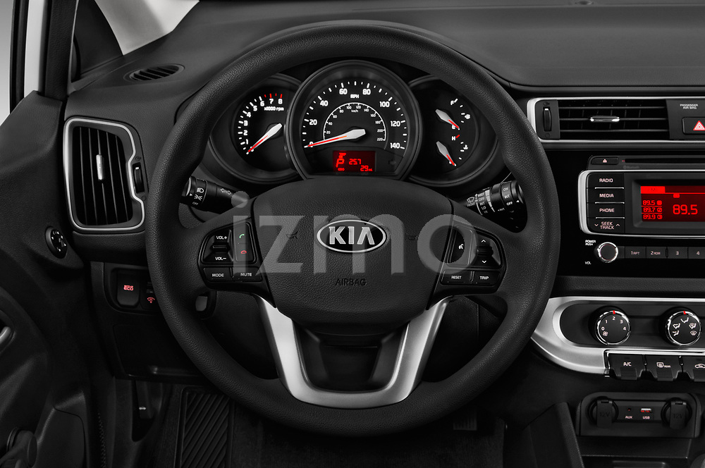 Car pictures of steering wheel view of a 2017 KIA Rio LX 5 Door Hatchback Steering Wheel