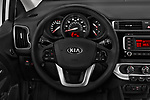 Car pictures of steering wheel view of a 2017 KIA Rio LX 5 Door Hatchback Steering Wheel