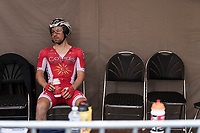 Michael Van Staeyen (BEL/Cofidis) awaiting his start. <br /> <br /> Baloise Belgium Tour 2018<br /> Stage 3: ITT Bornem - Bornem (10.6km)