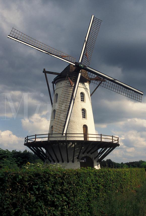 windmill, Belgium, Europe, Windmill in Vlaanderen County.