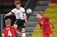 2nd June 2021, Tivoli Stadion, Innsbruck, Austria; International football friendly, Germany versus Denmark;  Robin Gosens left, Germany vs Daniel Wass right, Denmark