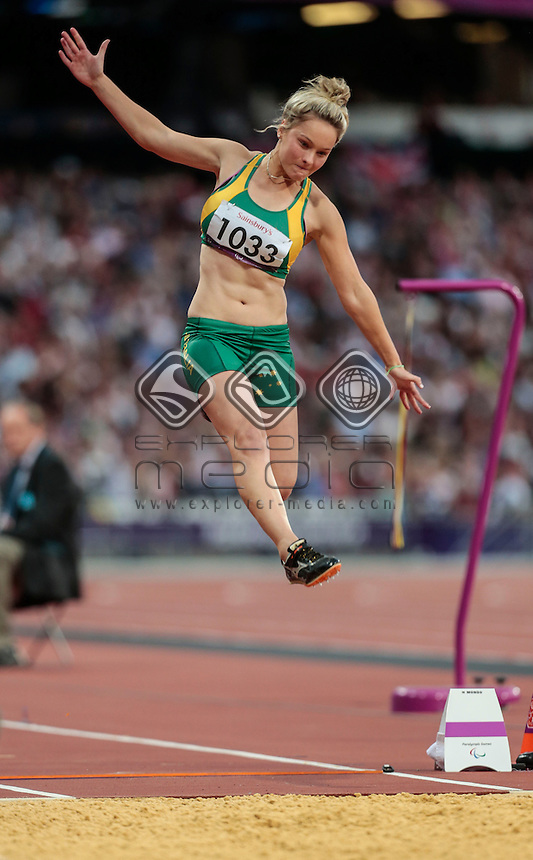 Stephanie Schweitzer AUS Long Jump - F20  Athletics (Monday 3rd Sept) - Olympic Stadium, Paralympics - Summer / London 2012, London, England 29 Aug - 9 Sept , © Sport the library/Greg Smith