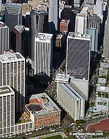 aerial photograph Market Street San Francisco California Hyatt hotel and One Rincon Plaza