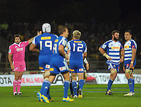 Referee Steve Walsh awards a penalty to the Stormers during the Super Rugby match between the Hurricanes and Stormers at FMG Stadium, Palmerston North, New Zealand on Friday, 26 April 2013. Photo: Dave Lintott / lintottphoto.co.nz