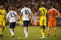 Orlando, FL - Saturday July 22, 2017: Christian Eriksen, Harry Kane, Presnel Kimpembe during the International Champions Cup (ICC) match between the Tottenham Hotspurs and Paris Saint-Germain F.C. (PSG) at Camping World Stadium.