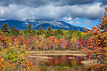View of Mount Katahdin in Baxter State Park from Compass Pond, Piscataquis County, ME, USA
