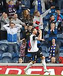Rangers fans laugh at Gary Warren after his goal is disallowed