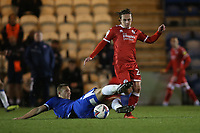 Sam Matthews of Crawley Town and Luke Norris of Colchester United during Colchester United vs Crawley Town, Sky Bet EFL League 2 Football at the JobServe Community Stadium on 1st December 2020