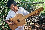 Guitar hand-made by Ramon Duarte, spiritual and cultural elder of katupyry village near San Ignacio, Misiones, Argentina.