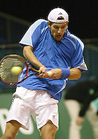 21-2-06, Netherlands, tennis, Rotterdam, ABNAMROWTT,  . Meltzer in action against Olivier Rochus