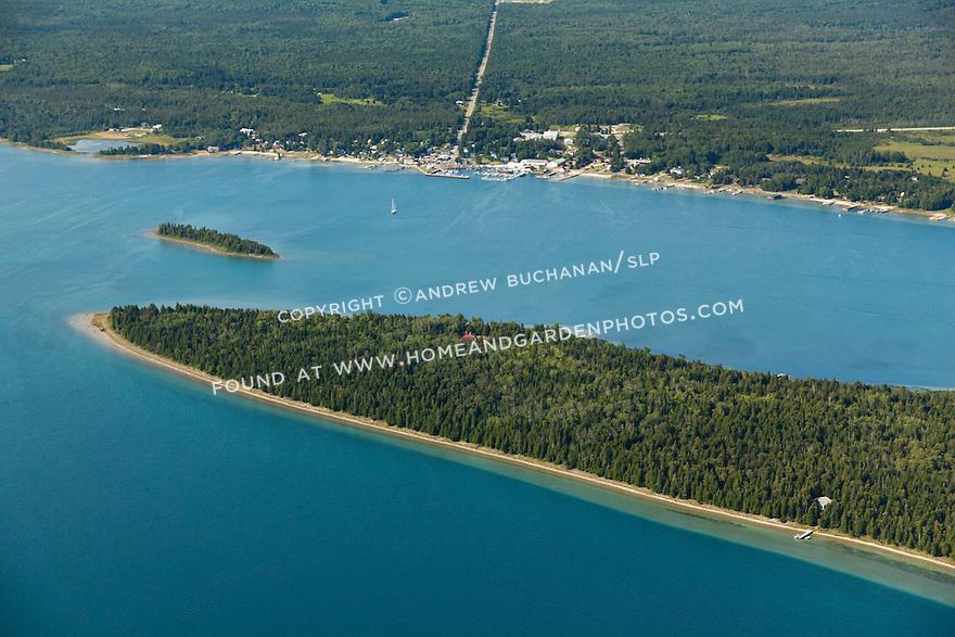 Hessel Bay and town marina, Hessel, MI