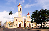 Immaculate Conception Cathedral church in the town square of Cienfurgos Cuba