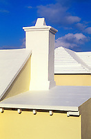 Limestone roof used to purify water, Bermuda