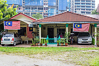Kampung Baru, Typical Private Family House in Traditional Malay Enclave, Kuala Lumpur, Malaysia.