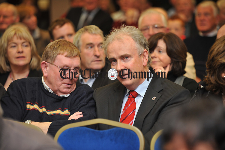 Dr. John Hillery in the crowd  at the Fianna Fail selection convention in the West County hotel, Ennis. Photograph by John Kelly.