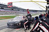 #20: Christopher Bell, Joe Gibbs Racing, Toyota Camry GameStop/Hello Neighbor, makes a pit stop