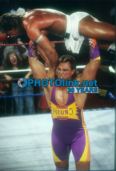 Crush vs. Lex Luger 1994 Photo By John Barrett/PHOTOlink