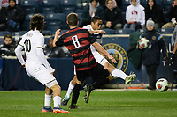 Chester, PA - Friday December 08, 2017: Niko De Vera The Stanford Cardinal defeated the Akron Zips 2-0 during an NCAA Men's College Cup semifinal match at Talen Energy Stadium.